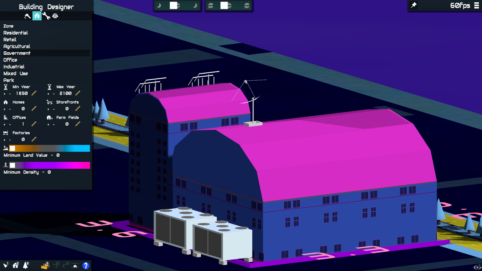 It's easy to make an ominous looking building in Vaporwave