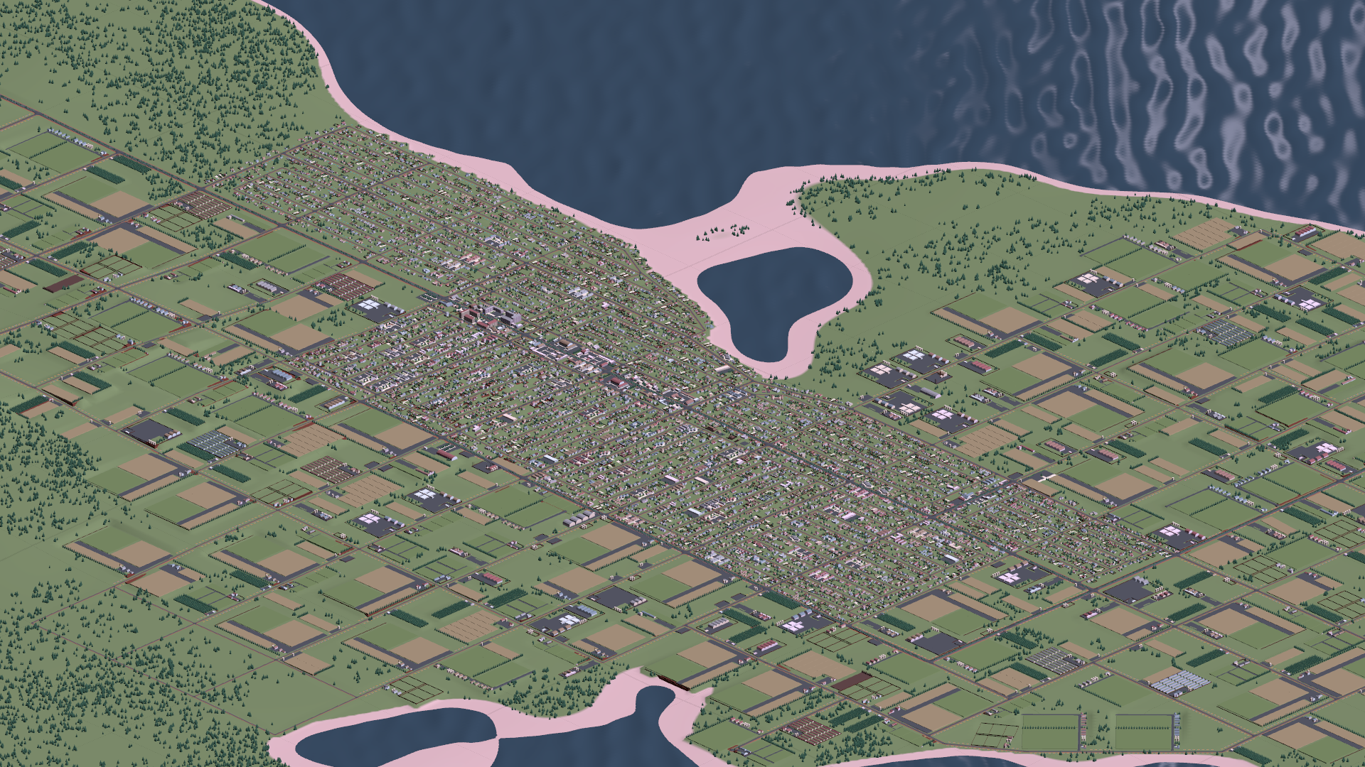 A small town, just shy of the 20,000 people needed to officially be a city.